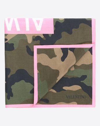 VALENTINO SETA Scarf U 20x170 cm / 8x67 in. VLTN knitted scarf  f