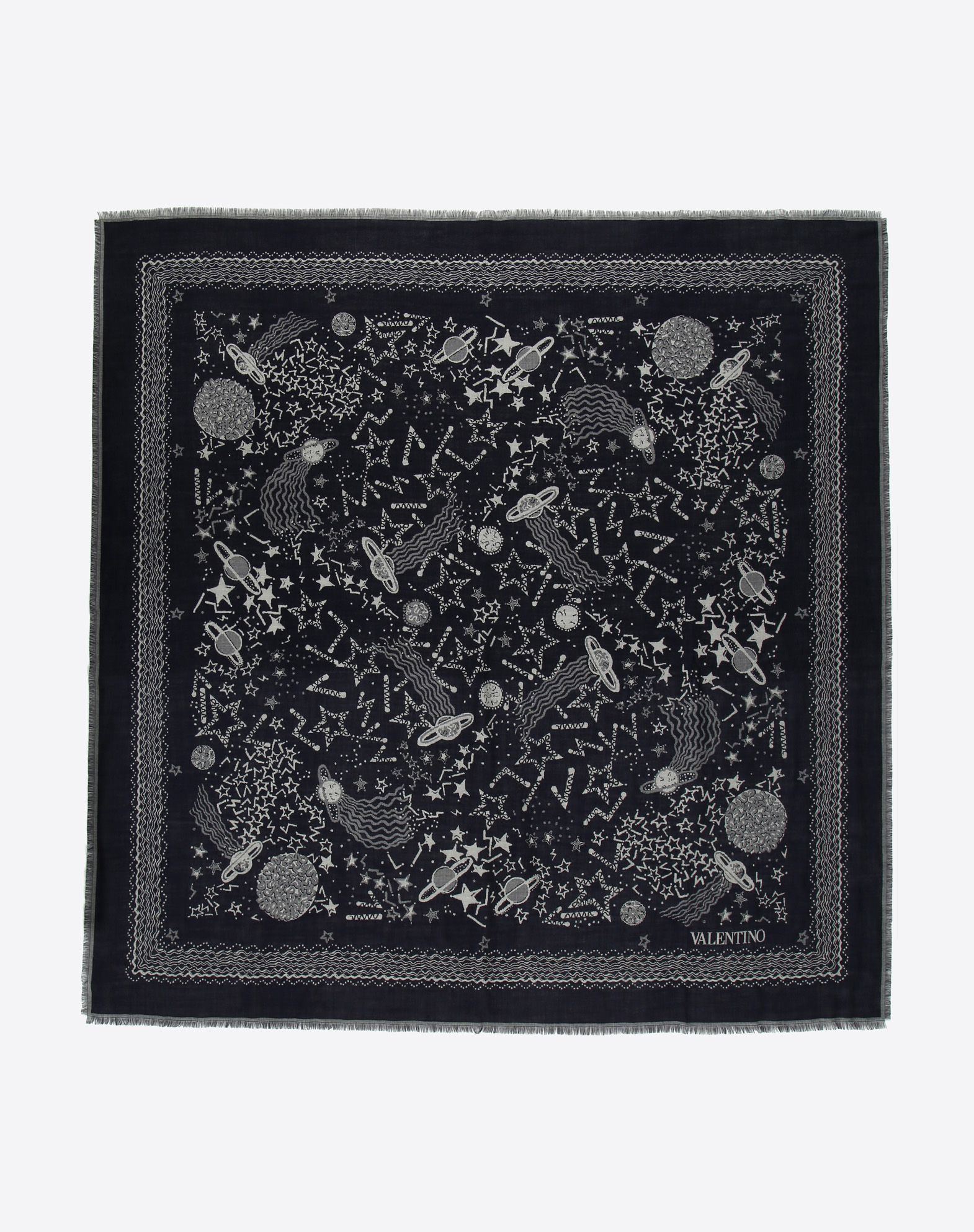 VALENTINO 印纹围巾 方巾 U f