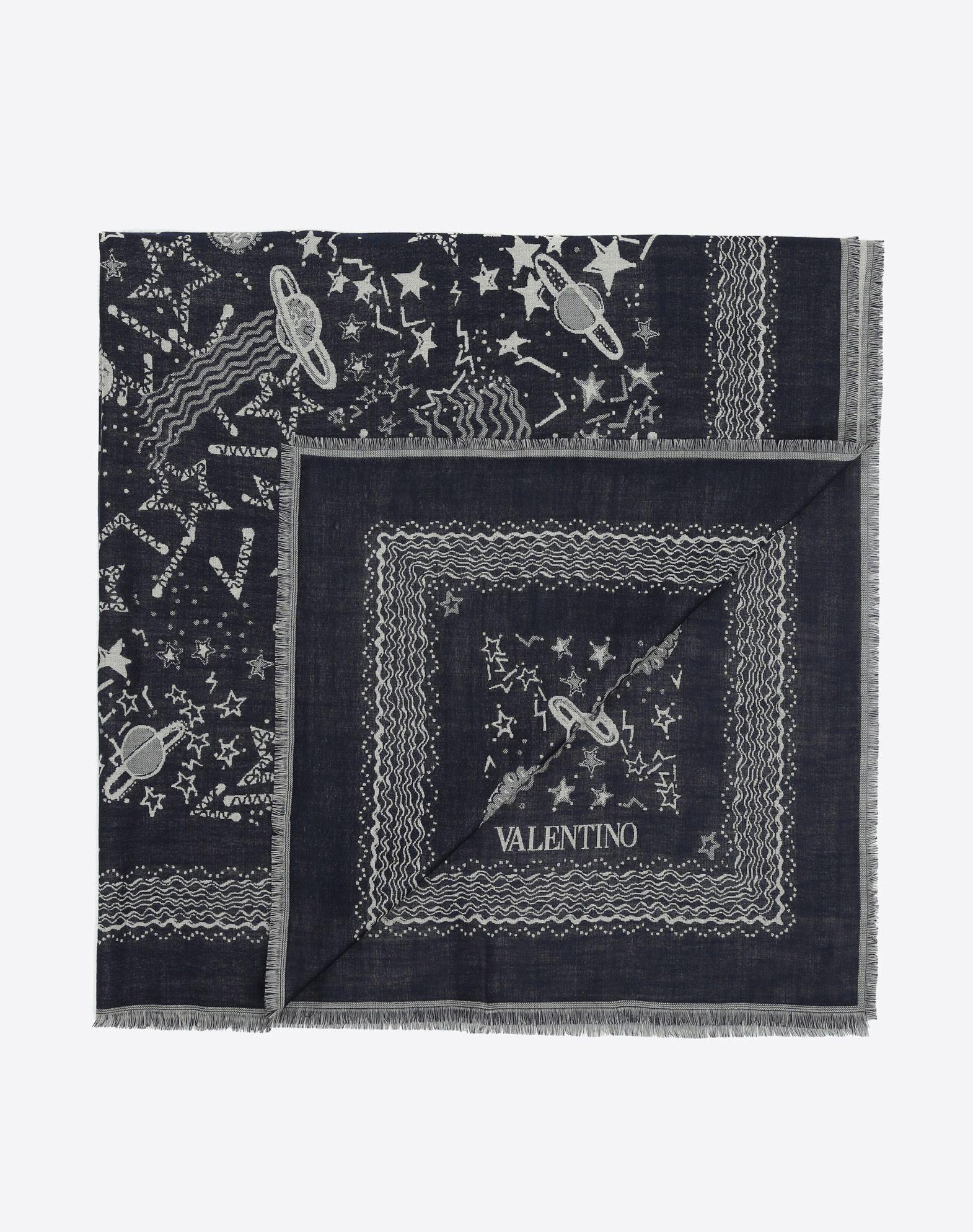VALENTINO 印纹围巾 方巾 U r