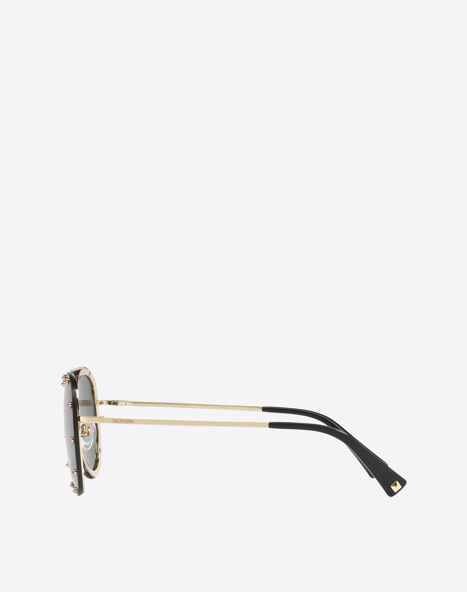 VALENTINO Metal and Acetate Sunglasses Sunglasses E d