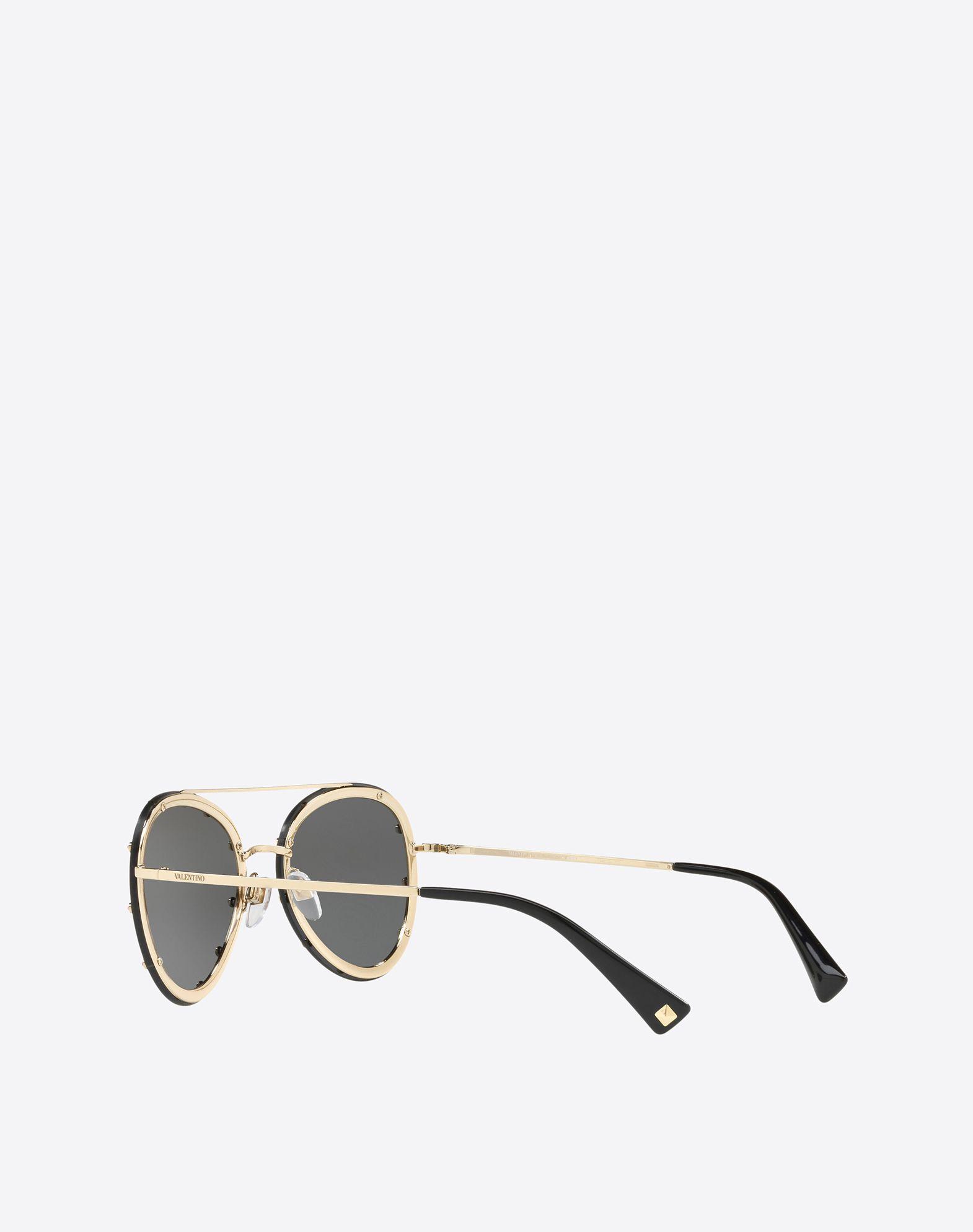 VALENTINO Metal and Acetate Sunglasses Sunglasses E e