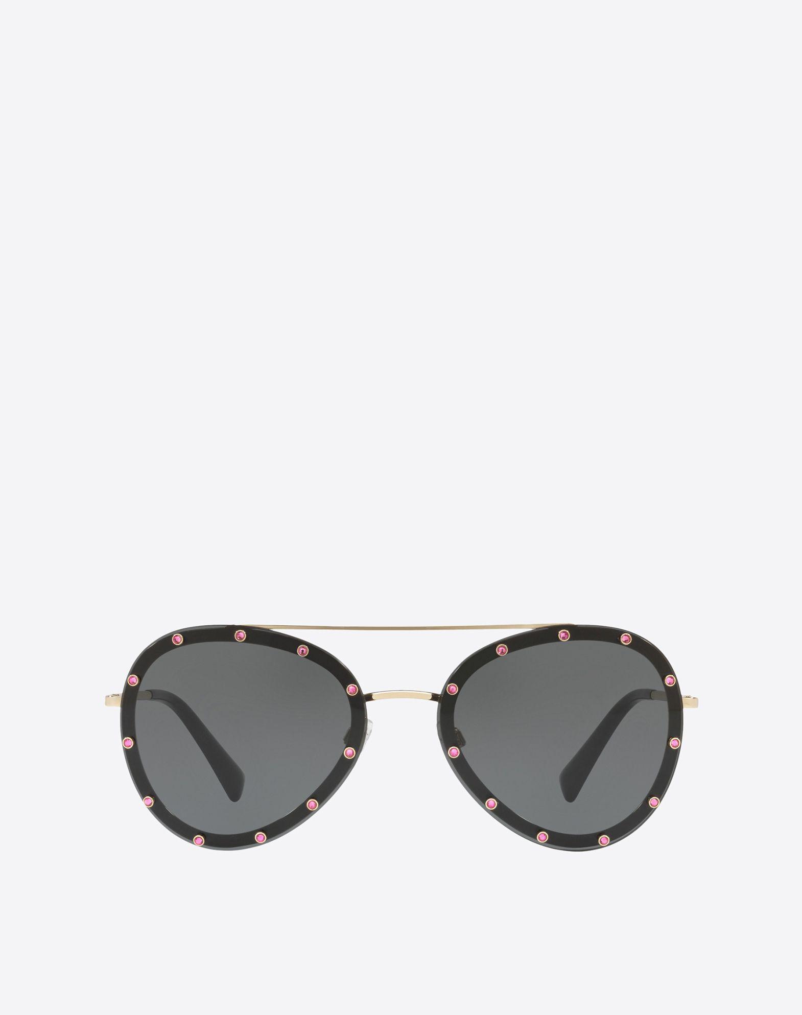 VALENTINO Metal and Acetate Sunglasses Sunglasses E f
