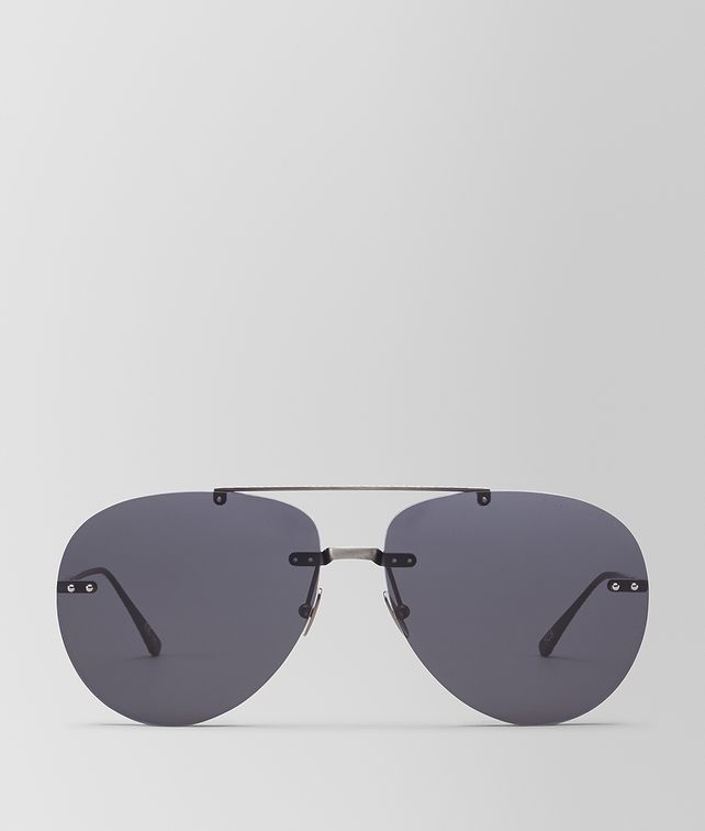 BOTTEGA VENETA GREY METAL SUNGLASSES Sunglasses Woman fp