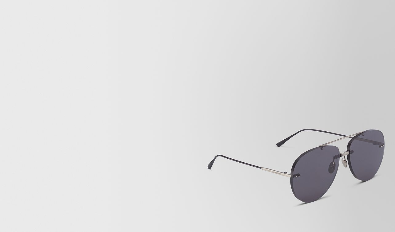 grey metal sunglasses landing