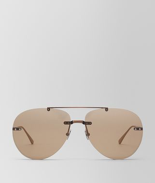 BROWN METAL SUNGLASSES