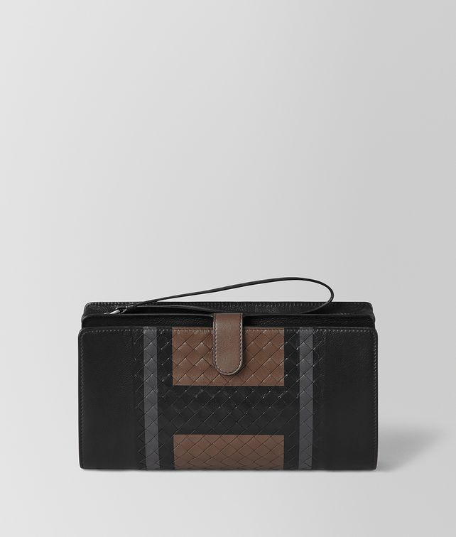nero softlux calf multi-functional case - Black Bottega Veneta