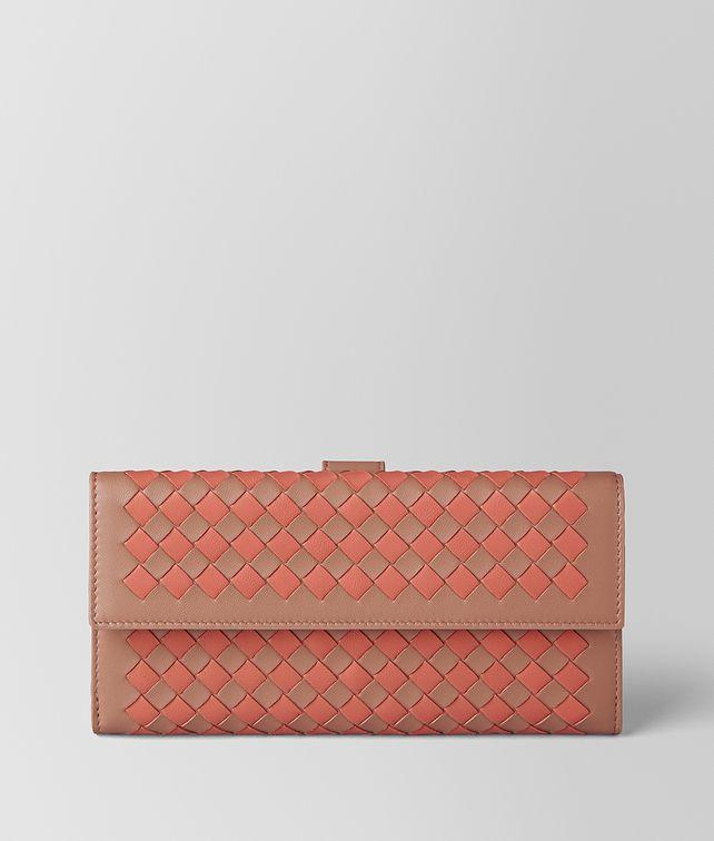 Bottega Veneta dahlia hibiscus Intrecciato palio chain wallet Free Shipping Limited Edition Shop Cheap Price n0MxTvbW