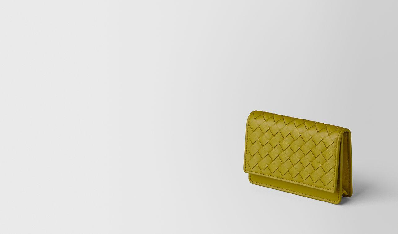 chamomile intrecciato nappa card case landing