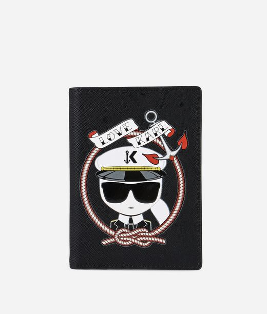 KARL LAGERFELD Captain Karl Passport Holder 12_f