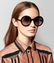 BOTTEGA VENETA NERO ACETATE HOOP SUNGLASSES Sunglasses Woman lp