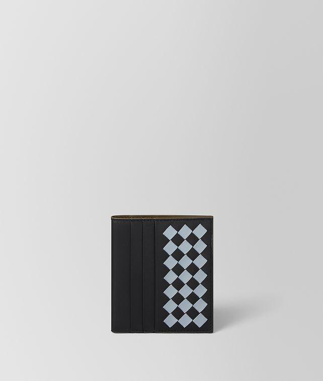 BOTTEGA VENETA NERO INTRECCIATO CHECKER NAPPA BI-FOLD WALLET Card Case [*** pickupInStoreShippingNotGuaranteed_info ***] fp