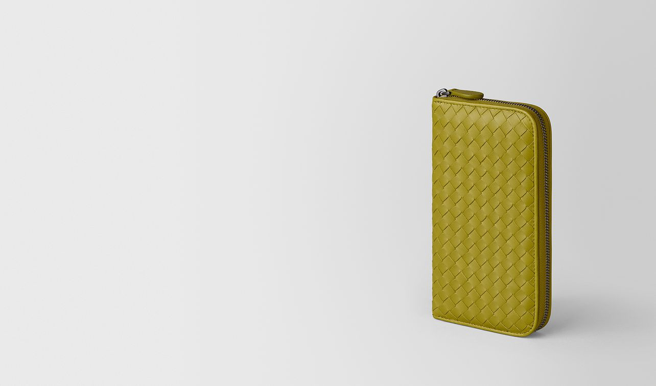 chamomile intrecciato nappa zip-around wallet landing