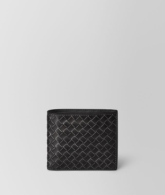 BOTTEGA VENETA NERO METAL BRUSH CALF BI-FOLD WALLET Bi-fold Wallet Man fp
