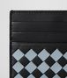 BOTTEGA VENETA NERO ARCTIC INTRECCIATO PALIO CARD CASE Card Case or Coin Purse E dp