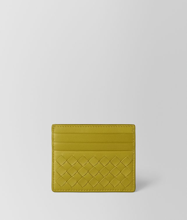 BOTTEGA VENETA CHAMOMILE INTRECCIATO NAPPA CARD CASE Card Case or Coin Purse E fp
