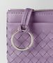 lilac intrecciato nappa key case Back Detail Portrait