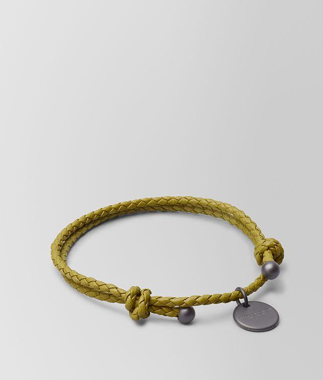 BOTTEGA VENETA CHAMOMILE INTRECCIATO NAPPA BRACELET Keyring or Bracelets E fp