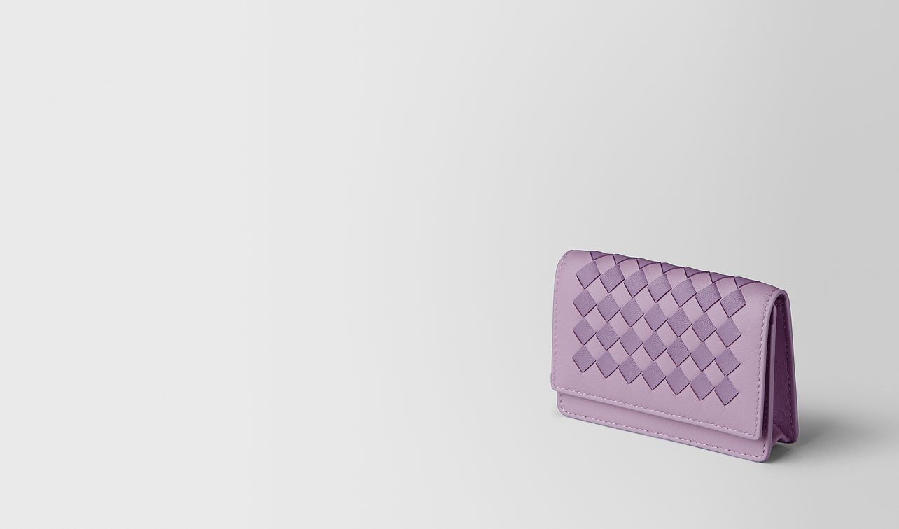 parme lilac intrecciato checker card case landing
