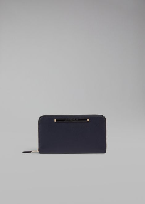 Portemonnaie aus Leder mit Reißverschluss