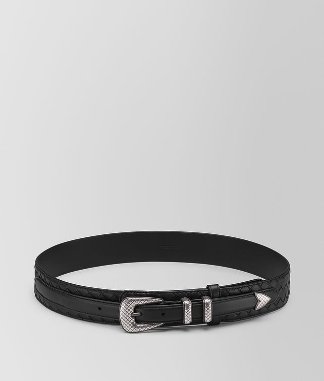 BOTTEGA VENETA NERO INTRECCIATO NAPPA BELT Belt [*** pickupInStoreShippingNotGuaranteed_info ***] fp