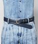 denim intrecciato nappa belt Front Detail Portrait