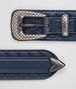 denim intrecciato nappa belt Right Side Portrait