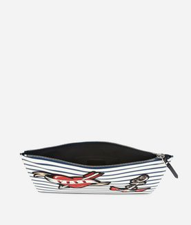 KARL LAGERFELD CAPTAIN KARL POUCH STRIPES