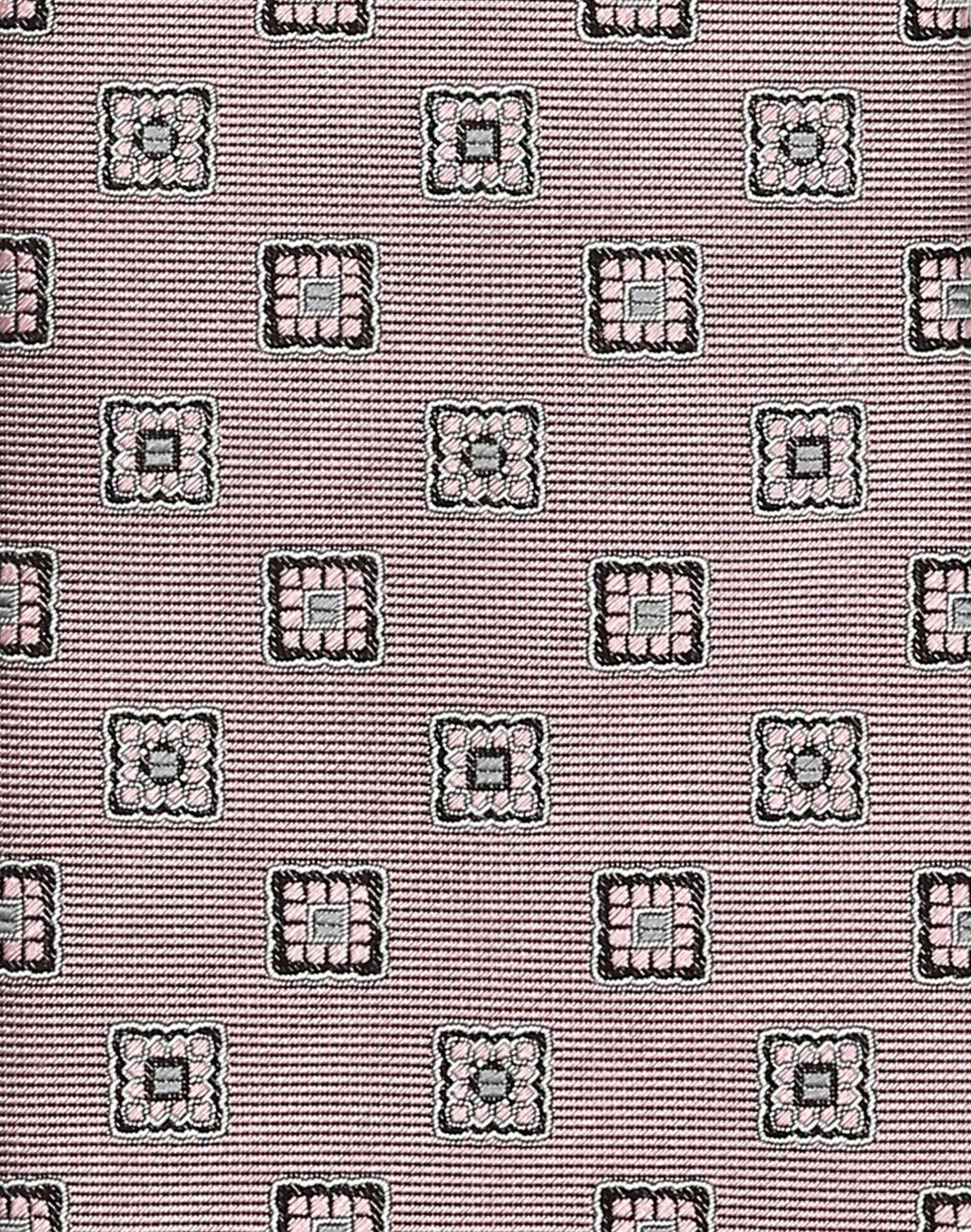 BRIONI Pink Macro-Design Tie Tie Man d