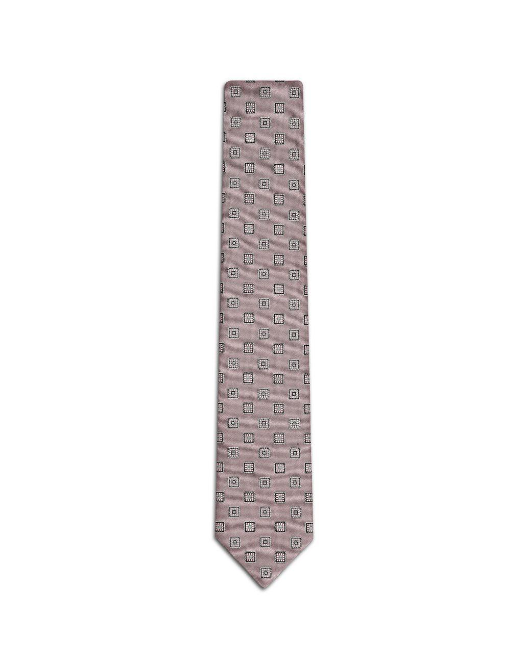 BRIONI Розовый галстук с крупным узором Галстук Для Мужчин f