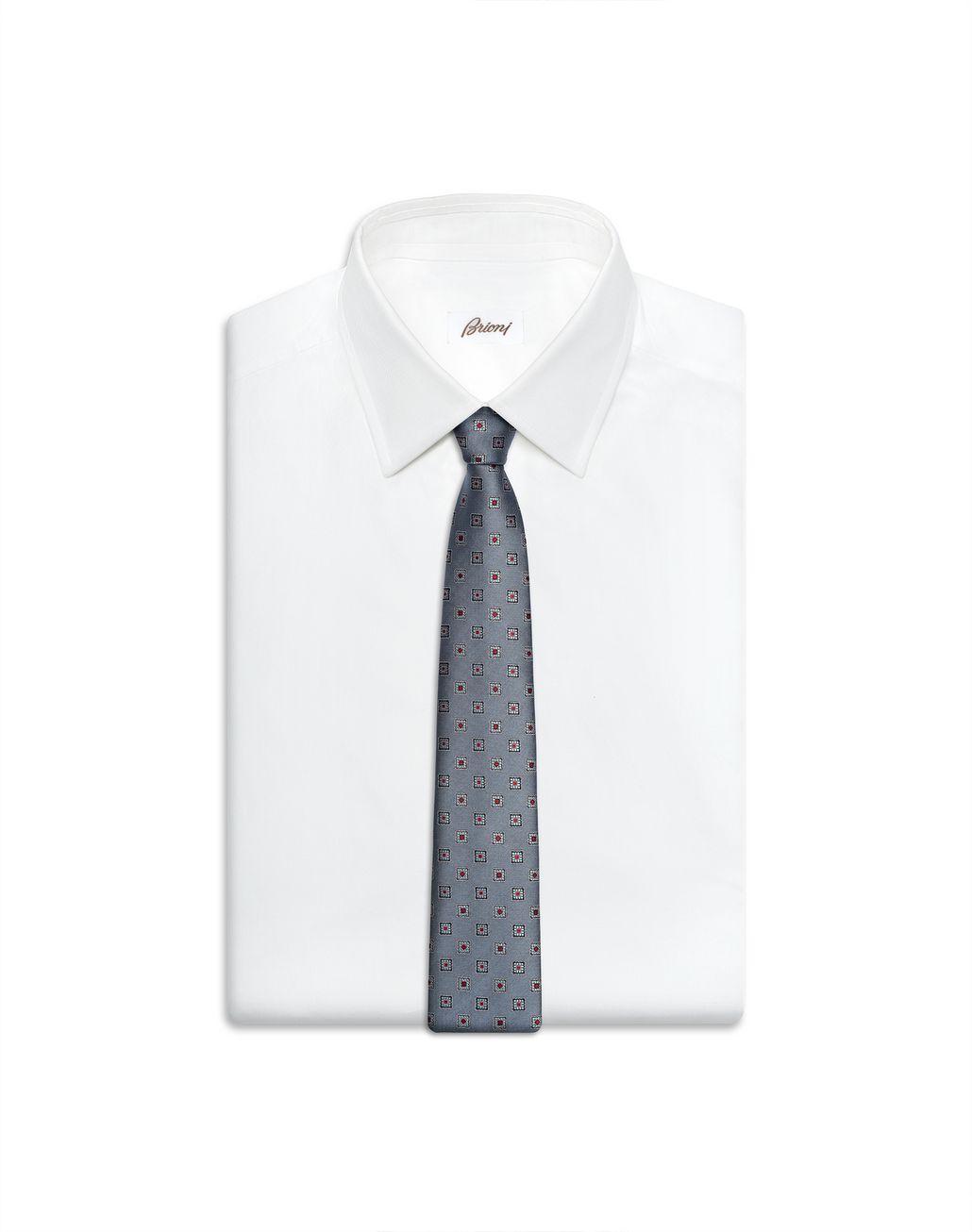 BRIONI Bluette Macro-Design Tie Tie Man e