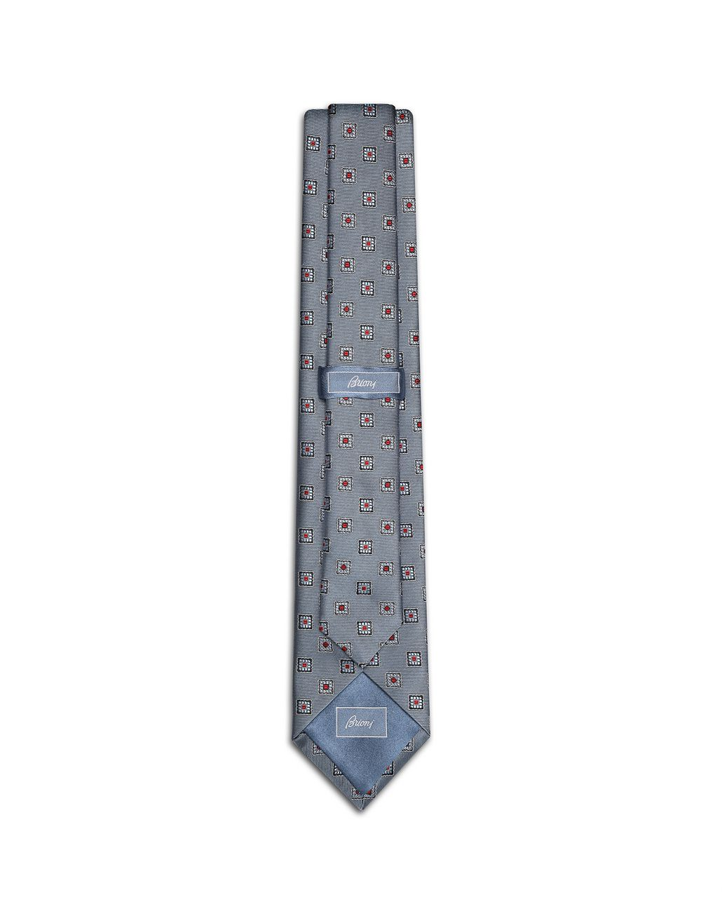 BRIONI Bluette Macro-Design Tie Tie Man r