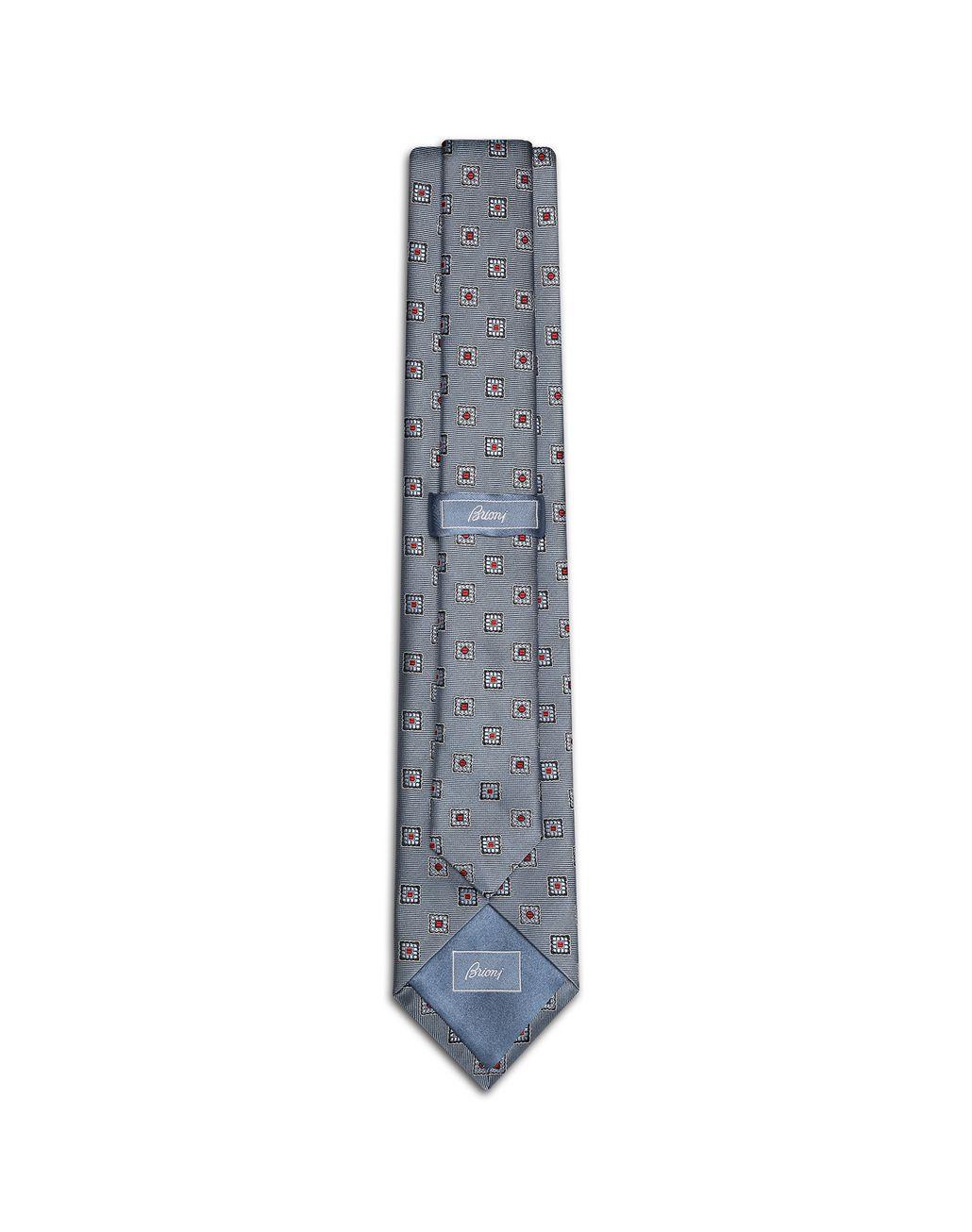 BRIONI Bluette Macro-Design Tie Tie [*** pickupInStoreShippingNotGuaranteed_info ***] r