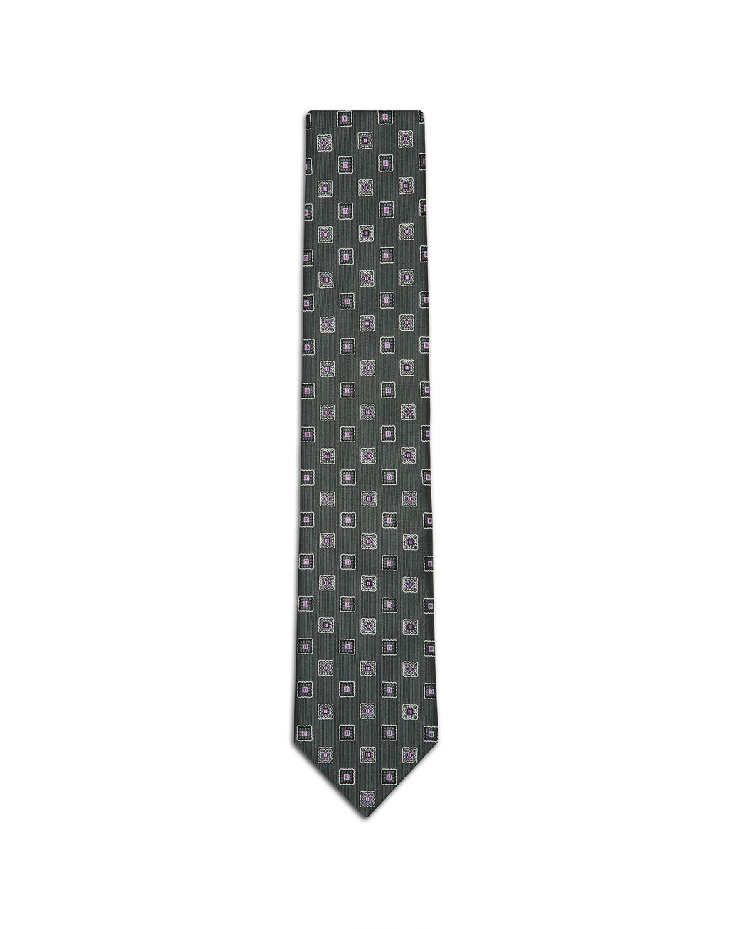 BRIONI Dark Green Macro-Design Tie Tie Man f