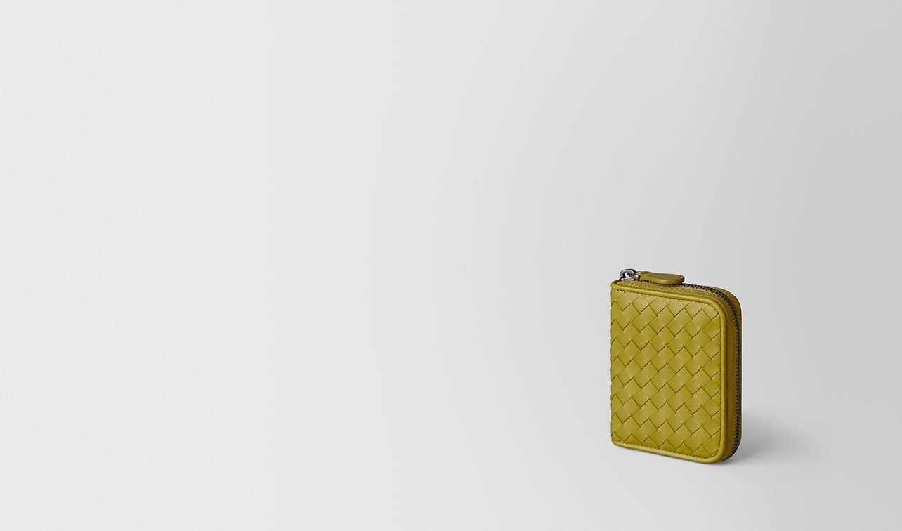 chamomile intrecciato nappa coin purse landing
