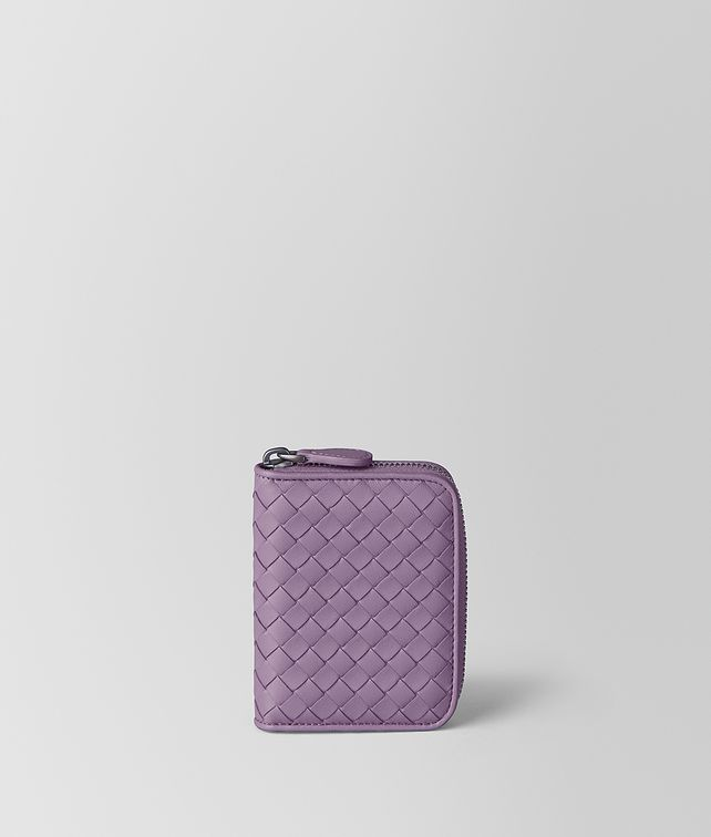 BOTTEGA VENETA LILAC INTRECCIATO NAPPA COIN PURSE Card Case or Coin Purse Woman fp