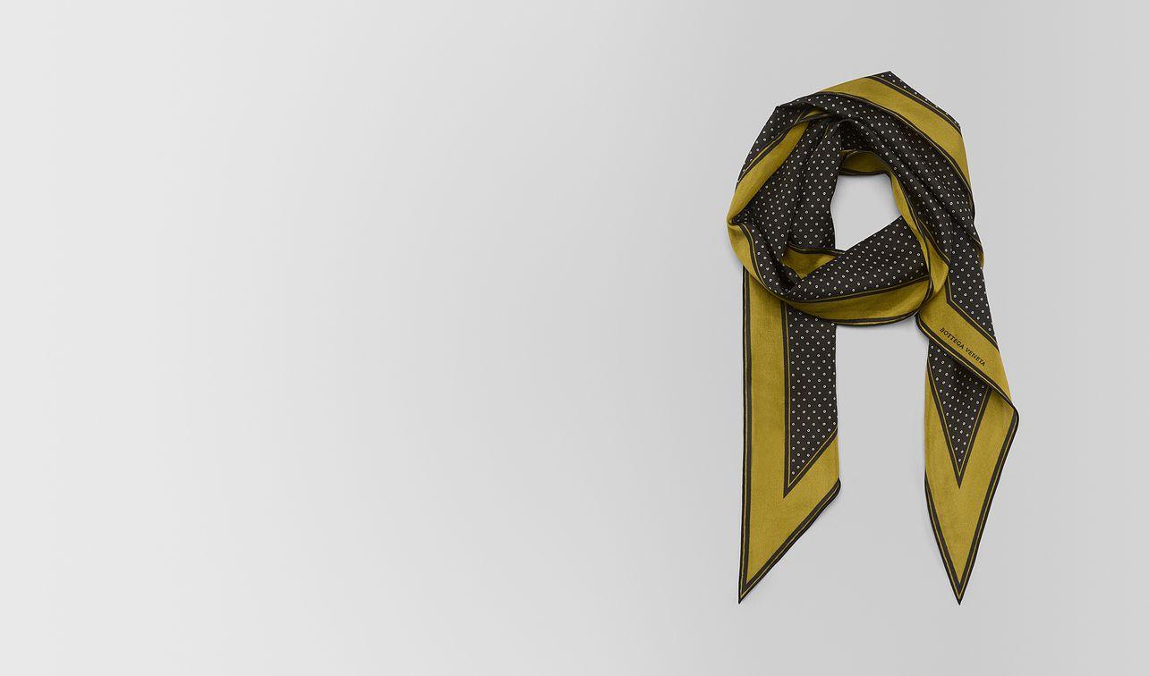 chamomile nero silk scarf landing