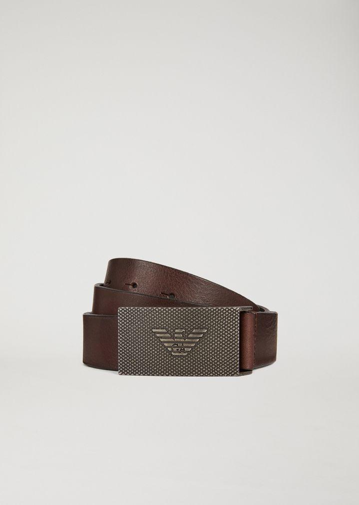 f002f6c54 Cinturón de cuero | Hombre | Emporio Armani