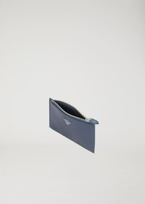 Card holder in boarded leather