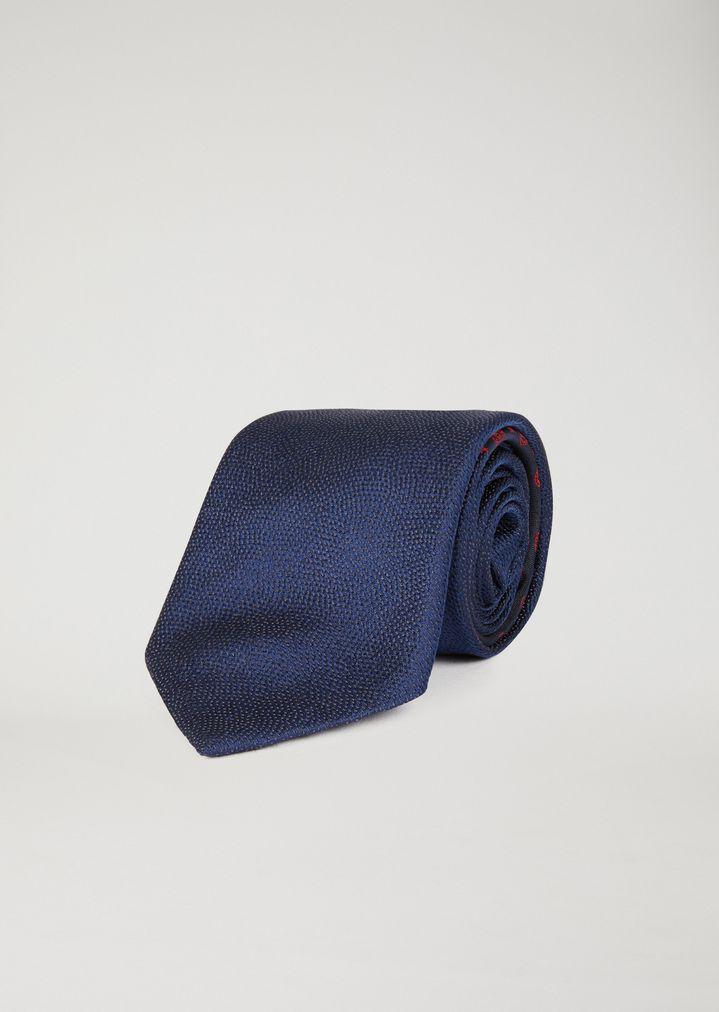Corbata de seda con jacquard estampado  aff4a614e2d