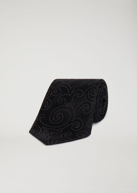 Cravatta in raso motivo jacquard
