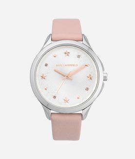 KARL LAGERFELD KARO PINK STAR LEATHER