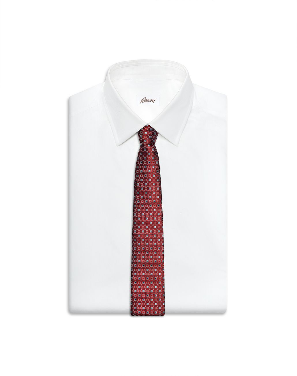 BRIONI Bordeaux and Grey Tie Tie Man e