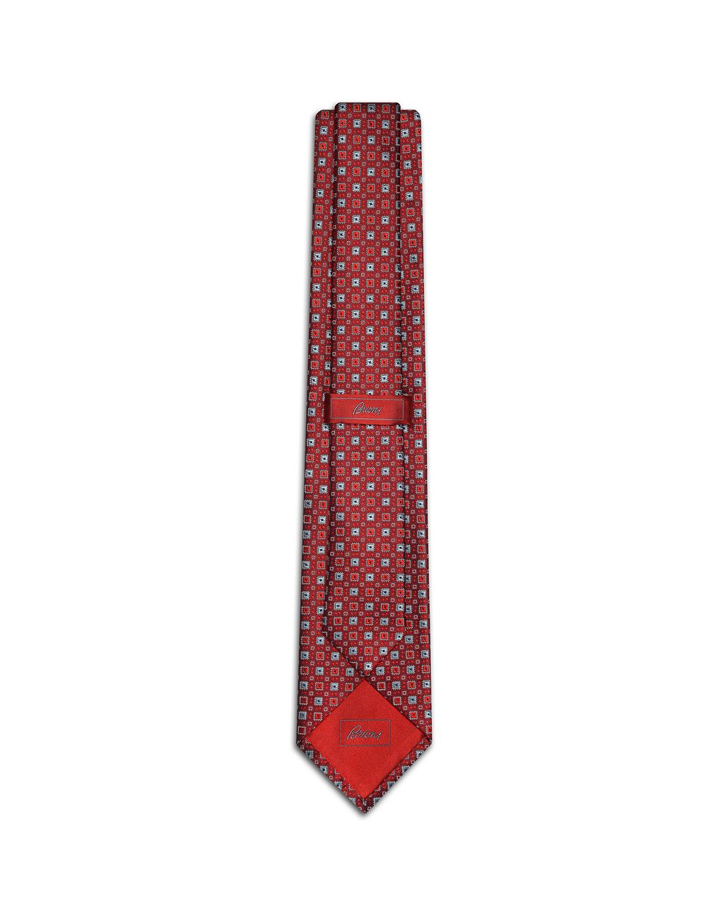BRIONI Bordeaux and Grey Tie Tie [*** pickupInStoreShippingNotGuaranteed_info ***] r
