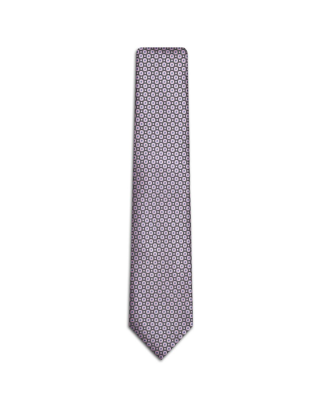 BRIONI Old Rose and Black Macro-Design Tie Tie Man f