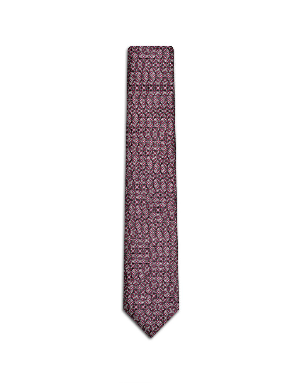 BRIONI Bordeaux Macro-Design Tie Tie [*** pickupInStoreShippingNotGuaranteed_info ***] f