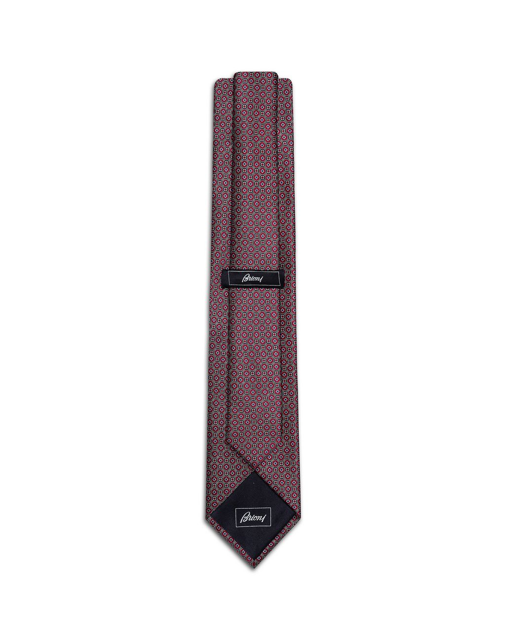 BRIONI Bordeaux Macro-Design Tie Tie [*** pickupInStoreShippingNotGuaranteed_info ***] r