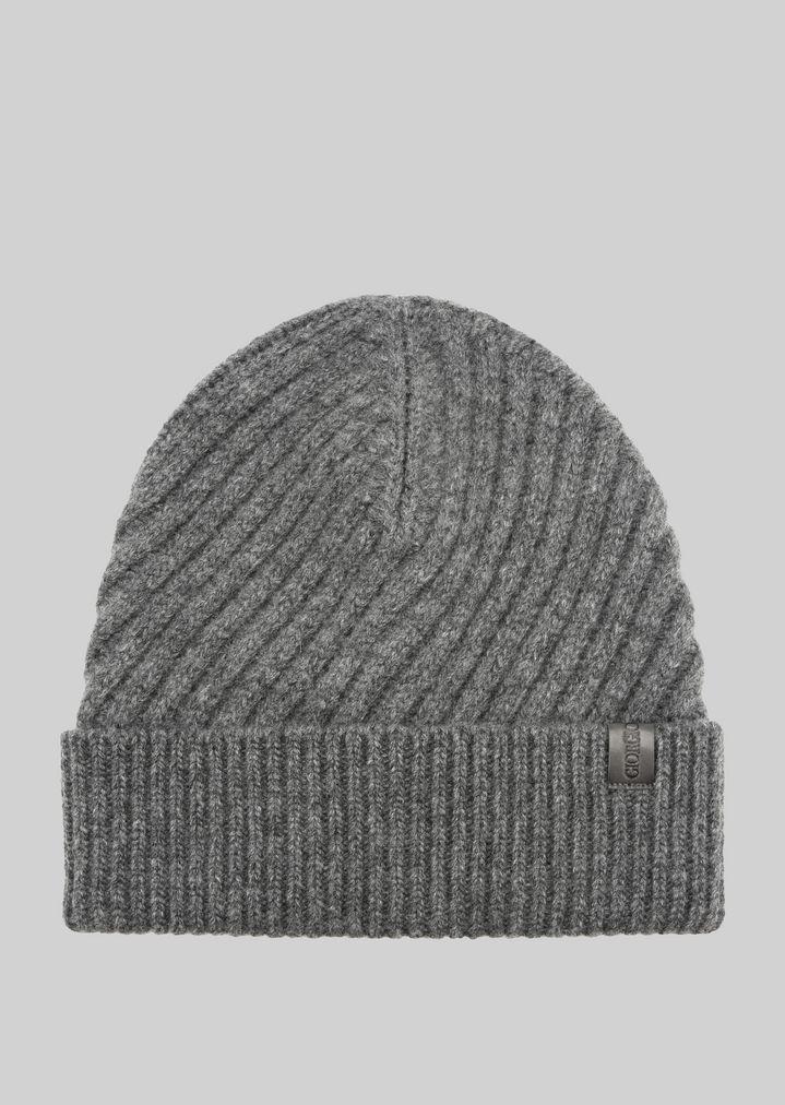 Cappello cuculo in lana a coste diagonali  a95b5842bc3e