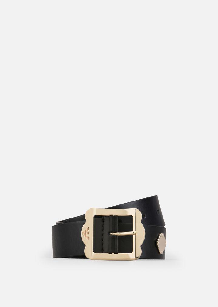 767fd9b4b Cinturón de piel | Mujer | Emporio Armani