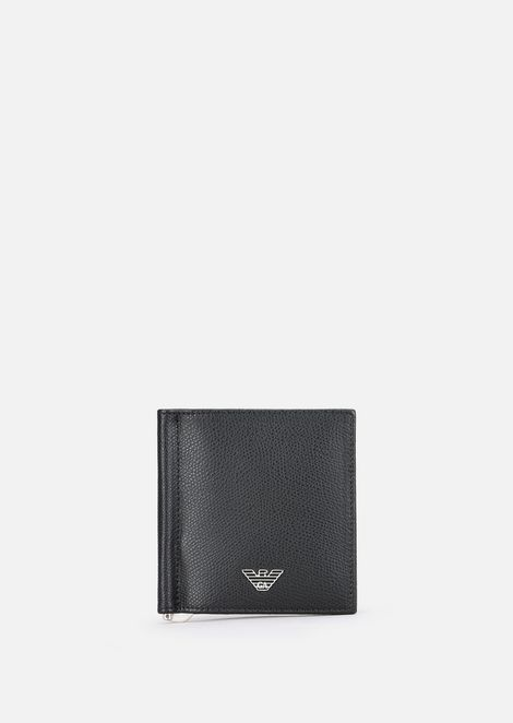 Bifold wallet in printed leather