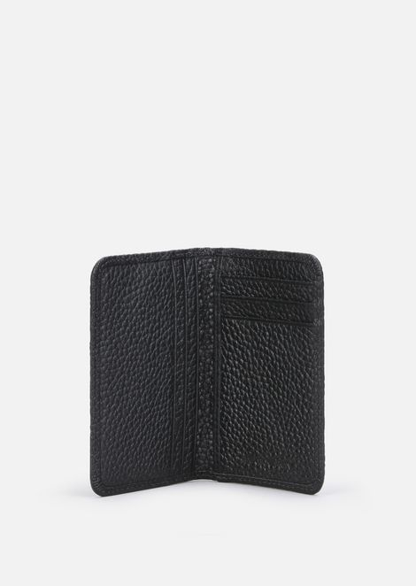 Wallet in hammered leather